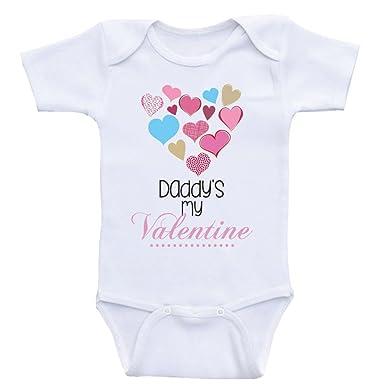 35efc8a407f3c Amazon.com: Heart Co Designs Daddy's Valentine Baby Onesie Daddy's ...