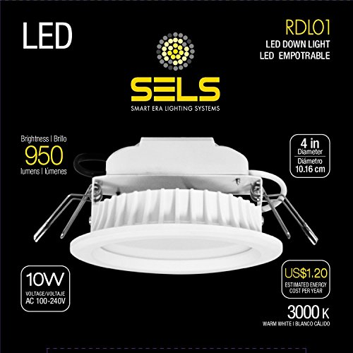 (SELS LED Recessed Light, Led Downlight 10 Watts 4 Inch 950 Lumens, 75 Watt Equivalent Recessed Downlight, (3000K) Soft White)