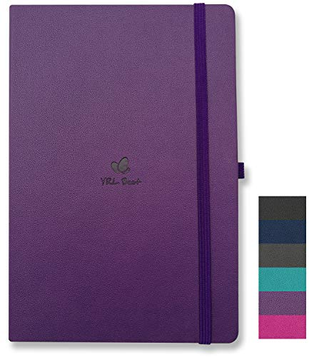 YRL Best | A5 Hardcover Notebook/Journal with Pen Loop, College Ruled/Lined, 5.7x8.3