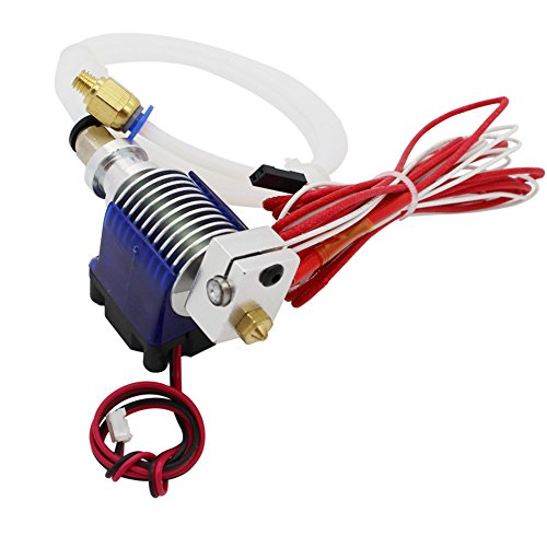 3D Printer Accessories V6 J-Head Hotend RepRap Extruder for 1.75mm Filament, Direct Feed or Bowden. w/ 0.4mm Nozzle, 12V fan, and 3ft PTFE Bowden Tube