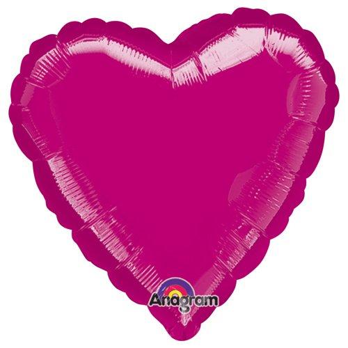 Fuchsia Foil Balloon 32, Anagram 16207 Heart