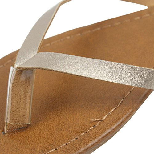 Sandali da Piatto Flops Flip Infradito Oro Spiaggia wealsex Donna nxXgq1gB