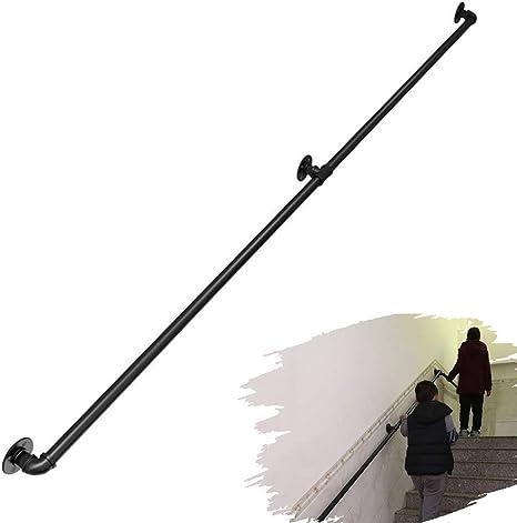 SEESEE.U Barandilla Industrial para escaleras Interiores externos Barandilla Escalera Kit Soporte Completo Barandillas Montaje en Pared para niños discapacitados Barandilla Interior al Aire Libre: Amazon.es: Deportes y aire libre