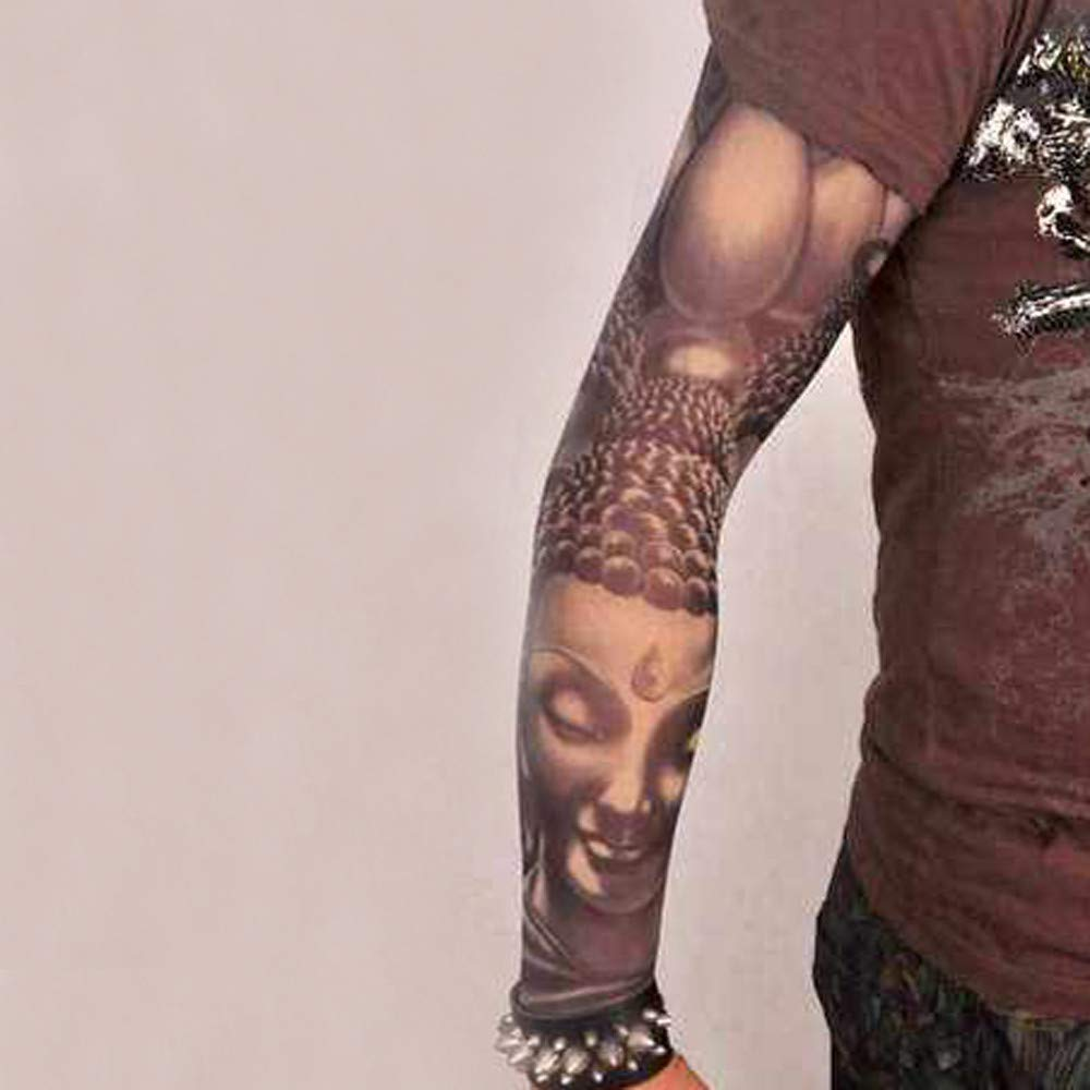 4Pcs Unisex Temporary Fake Slip On Tattoo Arm Sleeves Kit Sunscree by Sannysis (Image #4)