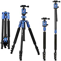 Zomei Camera Aluminium Tripod 63 Inch with Ball Head Quick Release Plate DSLR Travel Tripod for Canon Nikon Dslr DV Scope camcorders and Projector(Blue)