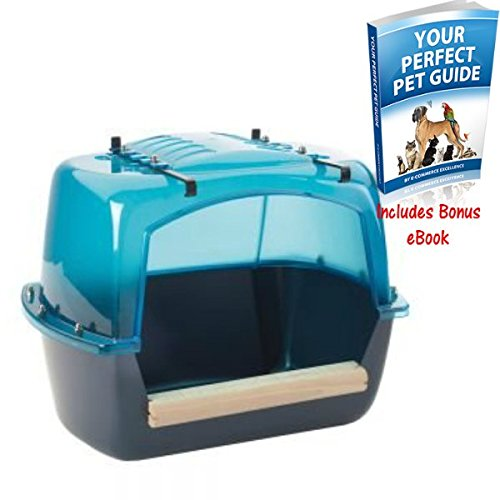 Extra Large Bath House For Parrots & Large Parakeets To Hang Up Inside Or Outside Of Your Cage Also Suitable As A Bathtub For Chinchillas And Degus By eCommerce Excellence Savic
