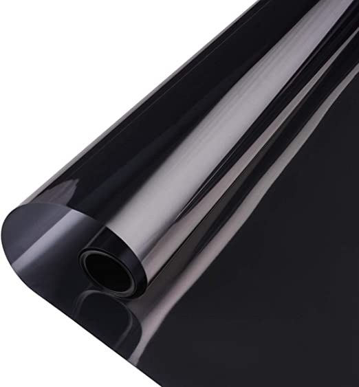 CAR OFFICE HOME STATIC CLING ANTI-GLARE PRIVACY WINDOW TINT FILM 5/% BLACK