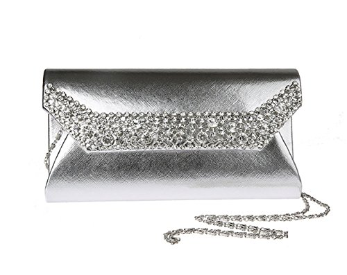 Aronvivi - Cartera de mano para mujer silvery2 talla única silvery3