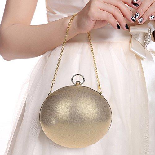 LUOEM Damen Clutch Abendtasche Kettentasche für Hochzeit Party Braut