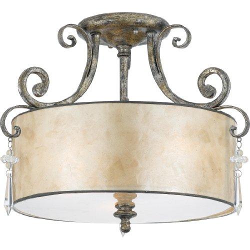 Quoizel KD1716MM 3-Light Kendra Semi-Flush Mount in Mottled Silver