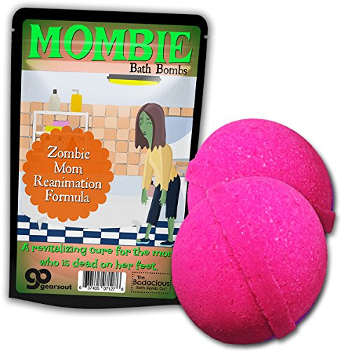 The Bodacious Bath Co.. Mombie Bombs Zombie Bath Balls – Funny Zombie Gifts for Moms Stocking Stuffers White Elephant Ideas Mother's Day Pink Bath Bombs