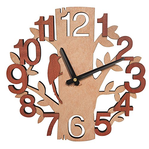 Giftgarden Tree Shaped Wall Clock Wood Decorations Housewarming Clocks (Sale Interesting For Clocks)