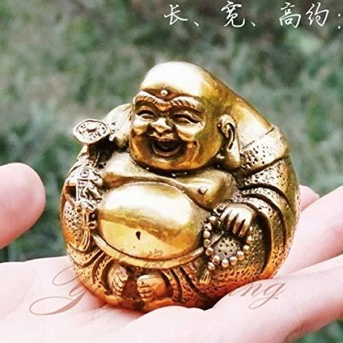 YOTATO Open Light Pure Copper Ruyi Maitreya Buddha Statue Sculpture Figure Home Furnishing Feng Shui Buddha Ornament