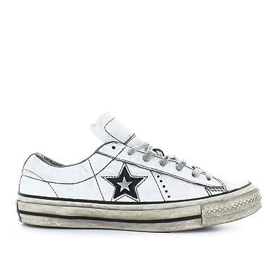 Converse Herren Schuhe Sneaker All Star Weiss Leder One Star Herbst ...