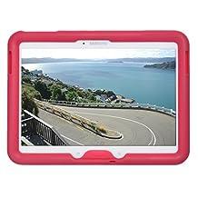 Bobj Rugged Case for Samsung Galaxy Tab 4 10.1 and Tab 3 10.1 Tablet Models SM-T530 (Wi-Fi), SM-T531 (3G), SM-T535 (4G), Other Models SM-T53...., and GT-P5200, GT-P5210, GT-P5220 - BobjGear Protective Cover - (Rockin' Raspberry)