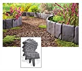 New Interlocking Faux Stone Border Edging, 10 Piece Garden Borders, Landscaping Look