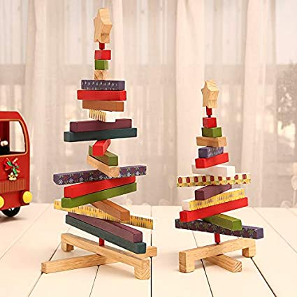 Amazon Com Findagift Christmas Decorations Creative Wooden