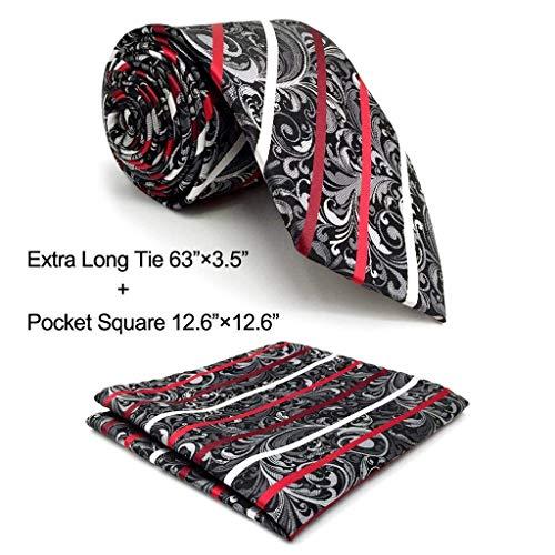 Designer Neck Tie - Shlax&Wing Designer Geometric Neckties For Men Red Black White Tie Wedding New