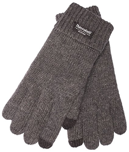 EEM ladies touchscreen gloves JETTE-IP with Thinsulate thermal lining made of 100% wool, winter, anthra - Thinsulate Womens Thermal