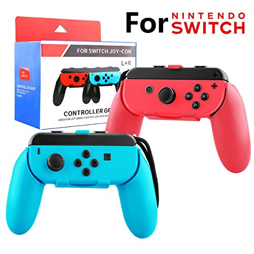 Nintendo Switch Joy-Con Grip Case Accessories Wear-Resistant Comfort Game Remote Controller Handle Kit for Nintendo Switch Joy Con 2-Pack Red Blue
