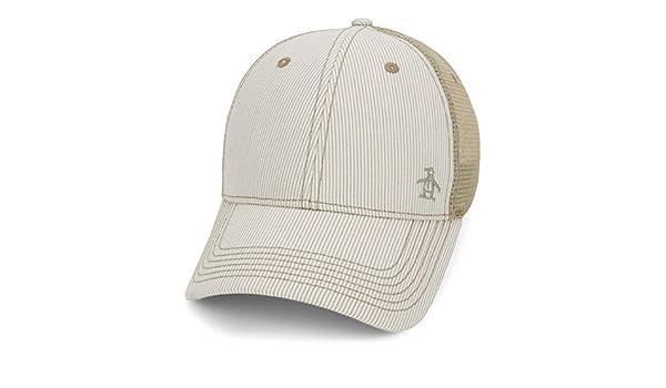 Original Penguin Mens Stripe Mesh Back Baseball Cap: Amazon.es ...