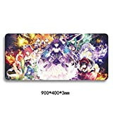 JINHONG XXL Professional Large Mouse Pat & Computer Game Mouse Mat (35.4x15.7x0.1IN Anime mouse pad)(LxL011)
