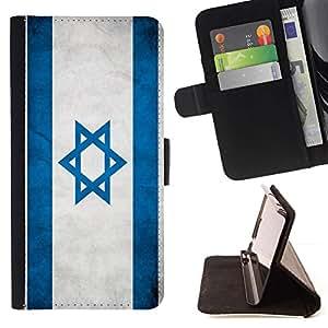Momo Phone Case / Flip Funda de Cuero Case Cover - Nacional bandera de la nación País Israel; - Samsung Galaxy E5 E500