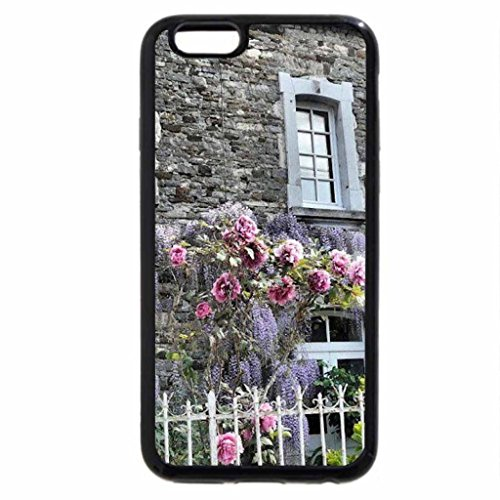 iPhone 6S / iPhone 6 Case (Black) Stone House Softened by Flowers
