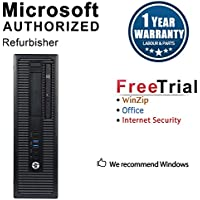 HP ProDesk 600G1 Small Form Business High Performance Desktop Computer(Intel Core i5 4570 3.2G,16G RAM DDR3,240G SSD+500GB HDD,DVD,WIFI, Windows 10 Professional)(Certified Refurbished)