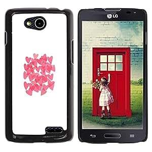 Be Good Phone Accessory // Dura Cáscara cubierta Protectora Caso Carcasa Funda de Protección para LG OPTIMUS L90 / D415 // Butterfly White Clean Pink