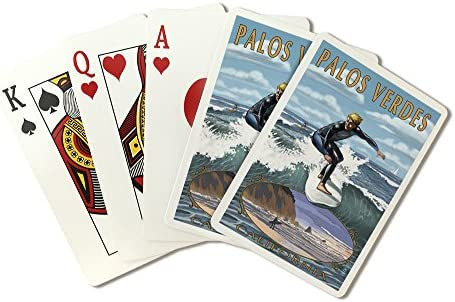 Amazon.com: Palos Verdes, California - Surfer (Playing Card ...