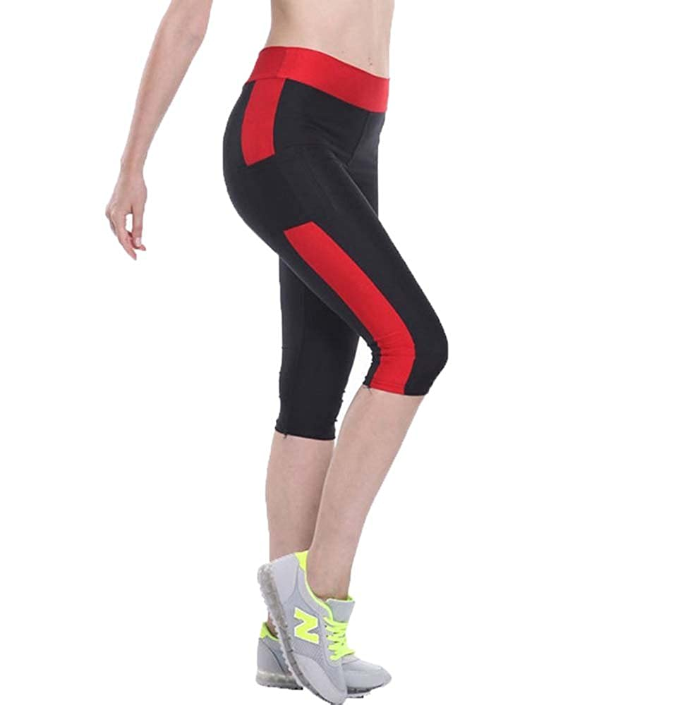 Women Yoga Leggings Power High Waist with Phone Pocket Gym Running 3/4 Tights 10 Colors S-XL
