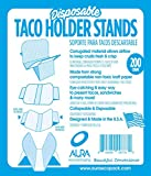 Disposable Taco Holder Stand, Serving Rack for Hot