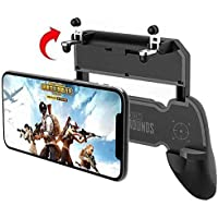 CEUTA® 2 in 1 PUBG Mobile Remote Controller Gamepad Holder Handle Joystick Triggers L1 R1 Shoot Aim Button(Black)