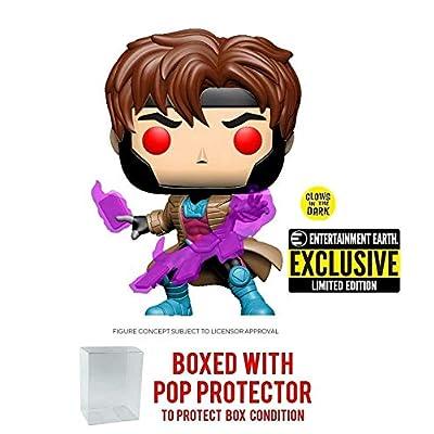 POP! Funko Marvel X-Men Classic Gambit Glow in The Dark Vinyl Figure - EE Exclusive: Toys & Games
