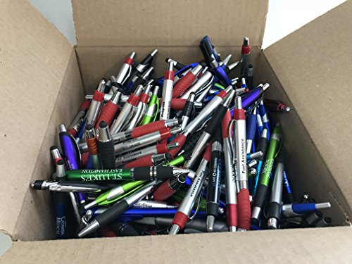 500 Lot Misprint Ink Pens with Soft Tip Stylus for Touch Screen, Assorted ()