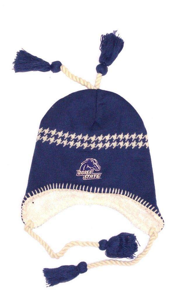 NCAA公式Sherpa Linedタッセルビーニー帽子キャップ蓋スカル(ボイジー州立ブロンコスブルー)   B00VS96NHQ