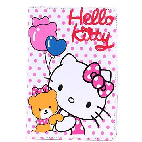 ipad Mini Leather Case,ipad Mini Cartoon Case,WGOOD 3D Cute Cartoon Syle Animal Balloon Bear Hello Kitty PU Leather Protection Skin Case Cover for Apple iPad Mini (Ipad Hello Kitty Cover compare prices)