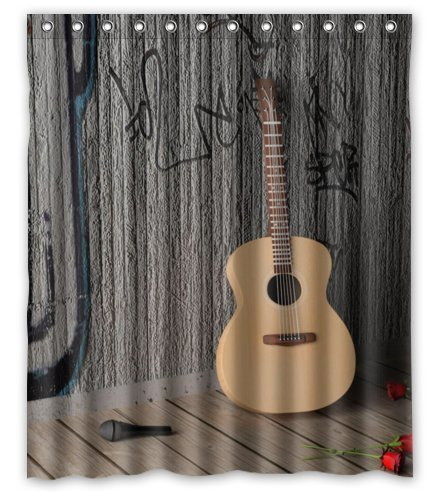Amazon.com: Outlet-Seller Custom Guitar and Wall Shower Curtain 60 ...