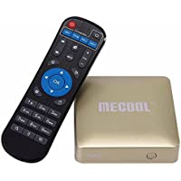 Generic MECOOL HM8 4K UHD Smart TV Box with Remote Controller, Android 6.0 Amlogic S905X Quad Core Cortex-A53 up to 2.0GHz, RAM: 1GB, ROM: 8GB, OTA, Bluetooth, WiFi(Gold)