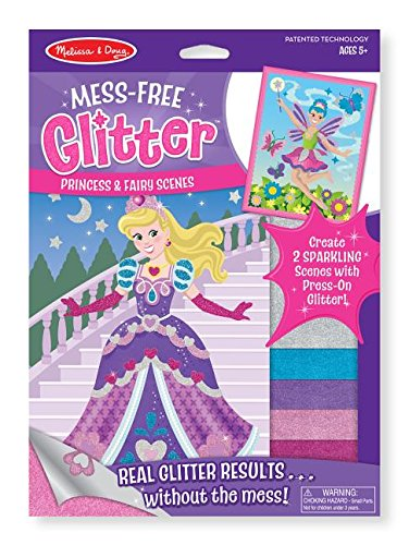 Princess Activity Kit (Melissa & Doug Mess-Free Glitter Activity Kit - Princess and Fairy Scenes)