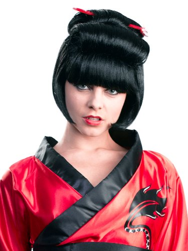 Enigma Wigs Women's Geisha Bob, Black, One -