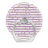 Pop Phone Ring Stand Holder 360°Rotation Reusable Ring Holder Finger Grip Universal socket Kickstand for All Cellphones Purple & gold confetti