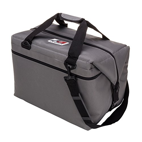 Bag Cooler Ice (AO Coolers Canvas Soft Cooler with High-Density Insulation, Charcoal, 48-Can)