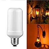 LED Flickering Flame Bulb,Creative Lights with Flickering Emulation,Vintage Atmosphere Decorative Lamps, Simulated Nature Gas Fire in Antique Hurricane Lantern- E26 Standard 1 Pack