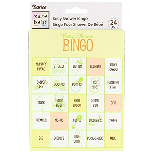 Darice Baby Shower Bingo Game, 24 Piece