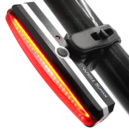 Bright USB Rechargeable Bike Tail Light - IPX4 Weatherproof Bicycle Rear Lights - Red Cycling Road Safety Back Helmet Light For All Bicycles & Scooters - 6 Flashing & Constant Modes - 180° Visibility (Best Bike Lights For Unlit Roads)