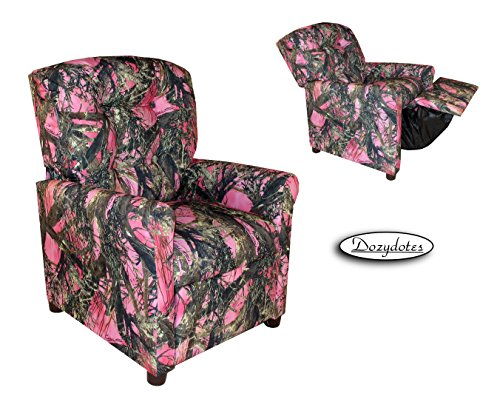 Dozydotes 11822 Child Recliner – 4 Button Camouflage Pink – True Timber
