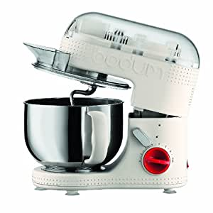 BODUM 11381-913US Bistro Electric Stand Mixer, 4.7-Liter, Off-White
