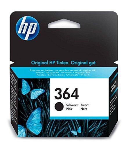 HP 364 Black Ink Cartridge - Cartucho de tinta para impresoras (Negro, Photosmart B8550 Photosmart Premium Fax C309...